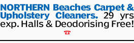 NORTHERN Beaches Carpet & Upholstery Cleaners.