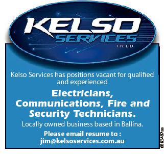 Kelso Services has positions vacant for qualified and experienced Locally owned business based in...