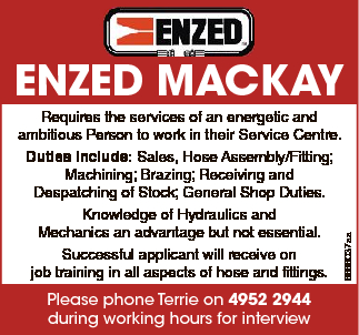 Requires the services of an energetic and