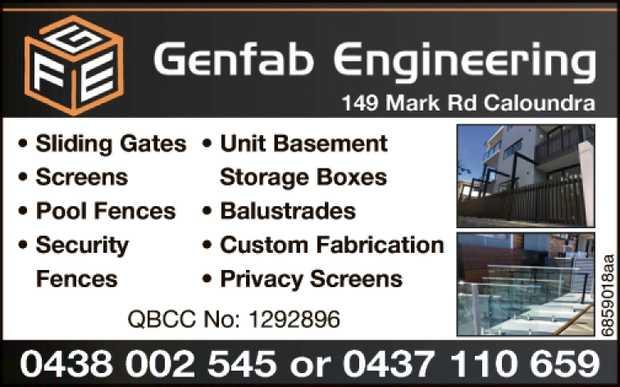 Sliding Gates • Screens • Pool Fences • Security Fences • Unit Base...