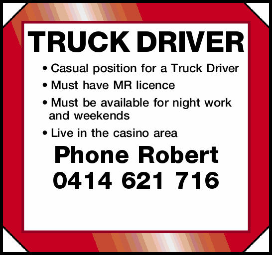 TRUCK DRIVER