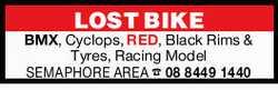 LOST BIKE BMX, Cyclops, RED, Black Rims & Tyres, Racing Model SEMAPHORE AREA 0884491440