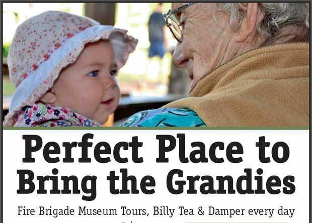 Perfect Place to Bring the Grandies www.highfieldspioneervillage.com.au Fire Brigade Museum T...