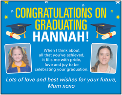 CONGRATULATIONS ON GRADUATING HANNAH!
