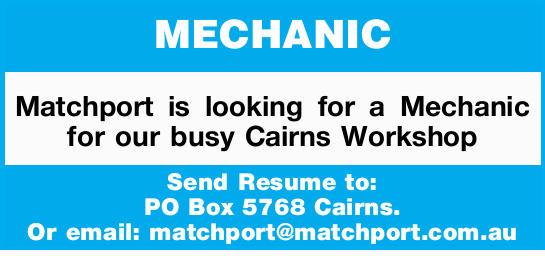 Mechanic | Find A Job | Jobs | Cairns Post