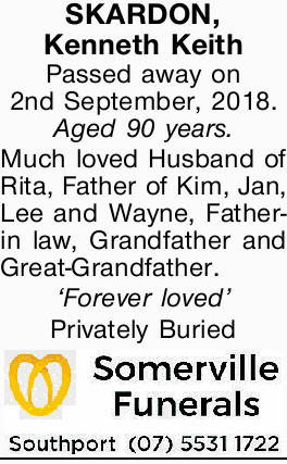 SKARDON, Kenneth Keith