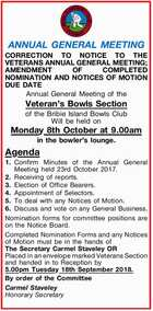 ANNUAL   GENERAL   MEETING  CORRECTION TO NOTICE