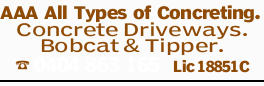 AAA All Types of Concreting.