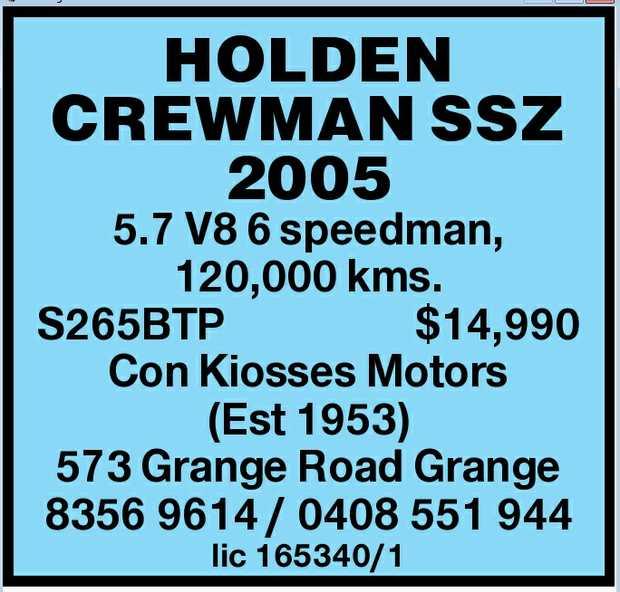 5.7 V8 6 speedman, 120,000 kms.    S265BTP    $14,990    Con Kiosses Motors (Est 1953...