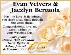 Evan Veivers & Jaezlyn Bertuola