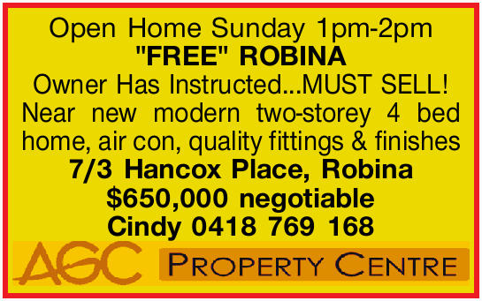 """FREE"" ROBINA
