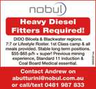 Heavy Diesel Fitters Required!