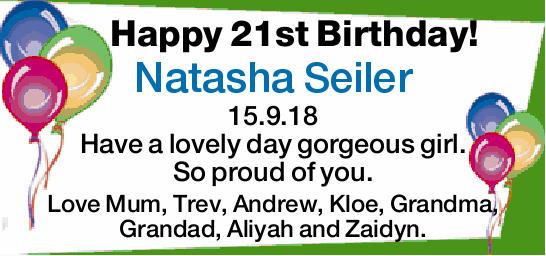 Happy 21st birthday birthday greeting notices gatton star m4hsunfo