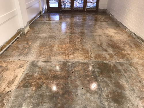 Grind & Seal.  Floor Flaking.  Epoxy Coating.  Glue removal/surface prep....