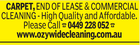 CARPET, END OF LEASE & COMMERCIAL CLEANING