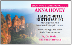LOOK WHO'S TURNING 40………… ANNA HOVEY   HAPPY 40TH BIRTH...