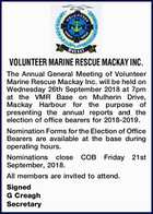 VOLUNTEER MARINE RESCUE MACKAY INC.