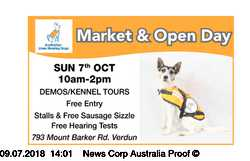 Sunday 7th October    10am - 2pm   DEMOS/KENNEL TOURS   Free Entry   Stalls &...