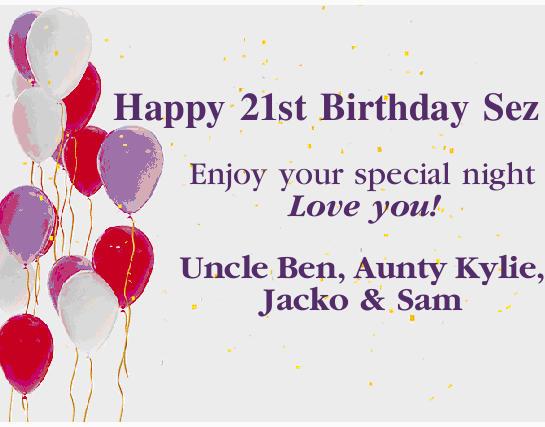 Happy 21st birthday sez birthday greeting notices coffs coast happy 21st birthday sez birthday greeting notices coffs coast advocate m4hsunfo
