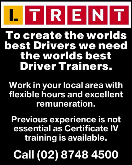 To create the worlds best Drivers - We need the worlds best Driver Trainers.   Work in your l...