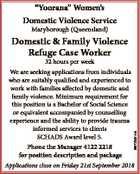 Domestic & Family Violence Refuge Case Worker