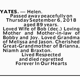 Obituaries, Funeral and Death Notices in Australia   Weekly