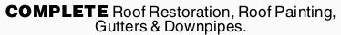 Roof Restoration,