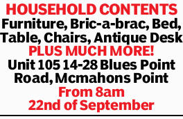 Furniture, Bric-a-brac, Bed, Table, Chairs, Antique Desk   PLUS MUCH MORE!   Unit 105 14-...