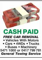 CASH PAID FREE CAR REMOVAL