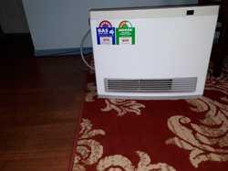 Rinnai Avenger 25 LPG Convector Heater with 3m Hose.