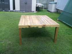 From a gate to a sturdy, solid, hand made 8 seater wooden table . 5'x4'