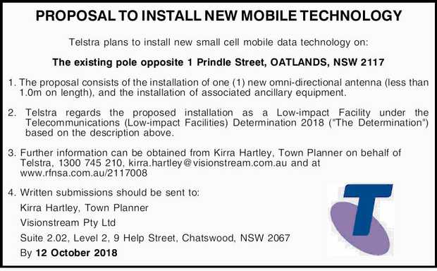 PROPOSAL TO INSTALL NEW MOBILE TECHNOLOGY