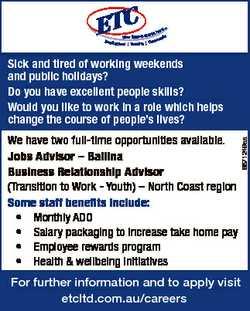 We have two full-time opportunities available. Jobs Advisor - Ballina Business Relationship Advisor...