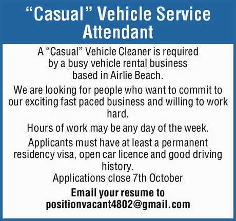 """<p> """"<strong>Casual"""" Vehicle Service Attendant </strong> </p> <p> A...</p>"""