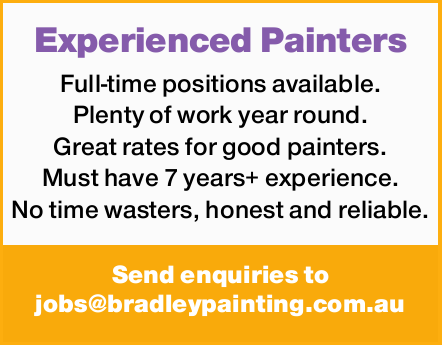 Full-time positions available.   Plenty of work year round.   Great rates for good painte...
