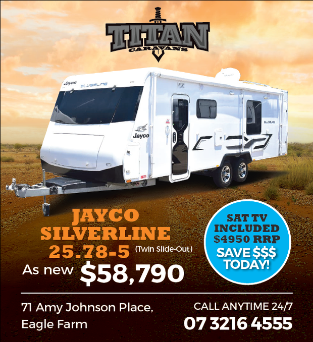 JAYCO SILVERLINE 25.78-5   (Twin Slide-Out)   As New $58,790   SAT TV INCLUDED $495...