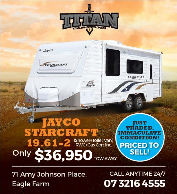 JAYCO STARCRAFT 19.61-2   (Shower + Toilet Van)   RWC + Gas Cert Inc.   Only $36,950...