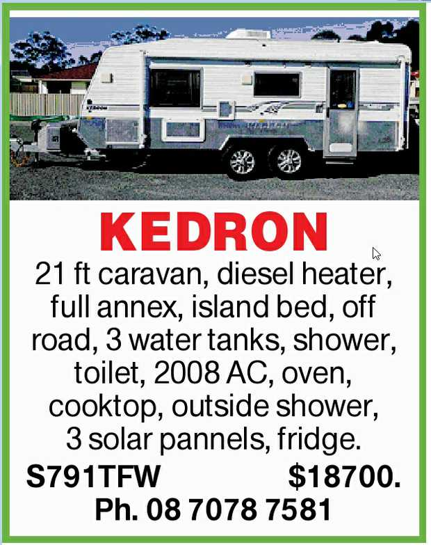 21 ft caravan, diesel heater, full annex, island bed, off road, 3 water tanks, shower, toilet, 20...