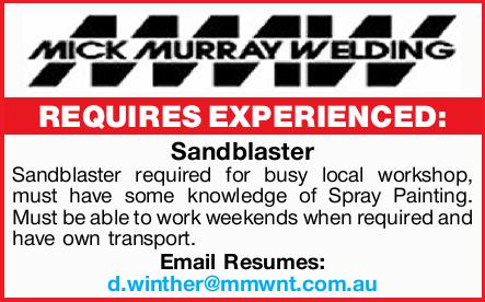 sandblaster find a job jobs finda