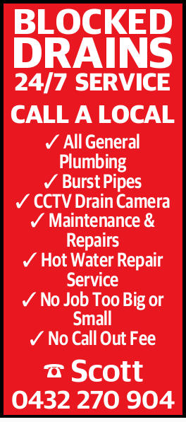BLOCKED DRAINS24/7 SERVICE CALL A LOCAL All General Plumbing Burst Pipes CCTV Drain Camera Mainte...