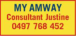 MY AMWAY Consultant Justine 0497 768 452