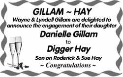 GILLAM ~ HAY Wayne & Lyndell Gillam are delighted to announce the engagement of their daughte...