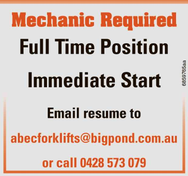 Mechanic Required