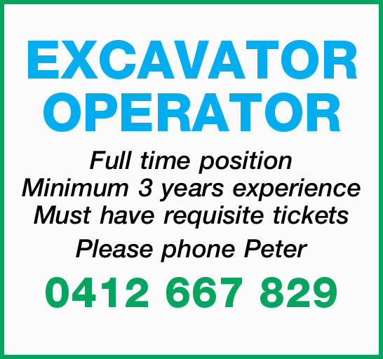 EXCAVATOR OPERATOR
