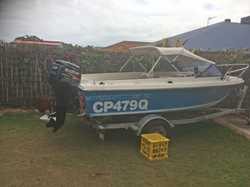 Haines Hunter 4.45m, 60 hp, 4 stroke, double tanks & batteries, trailer, all rego, $7990. Pho...