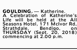 GOULDING. _ Katherine.