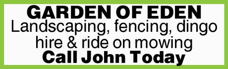 <ul> <li> Landscaping</li> <li> Fencing</li> <li> Dingo hire</li> <li> Ride on...</li></ul>
