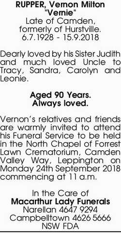 Browsing Funeral Notices | NSW & QLD Classifieds | Courier Mail