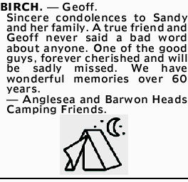 BIRCH, Geoff.