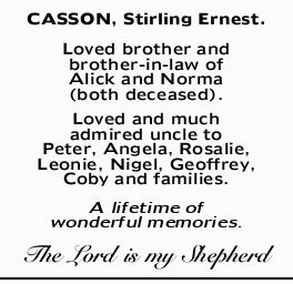 CASSON, Stirling Ernest. 
